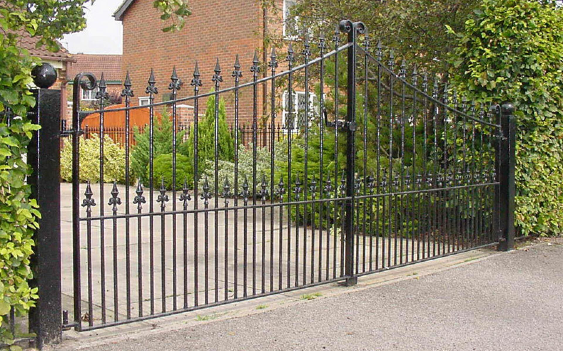 Regal wrought iron gate