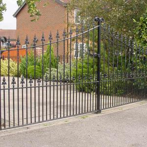 Regal wrought iron gate