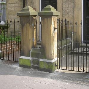 Wrought iron pedestrian garden gates