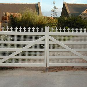 Painted wooden gate