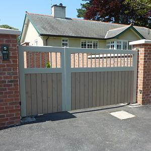 Wooden gates with underground automation (Courtesy of Automation Gates Services & Repairs Ltd)
