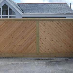 Falmouth wooden gate (Courtesy of A1 Gates & Securities)