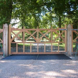 Chesterfield wooden gate (Courtesy of Automation Gates)